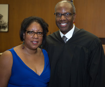 Hon. Michael Washington with his wife