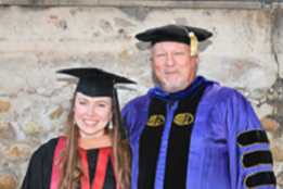 Dr. Murray Jennex and former student, Jessica Whitney