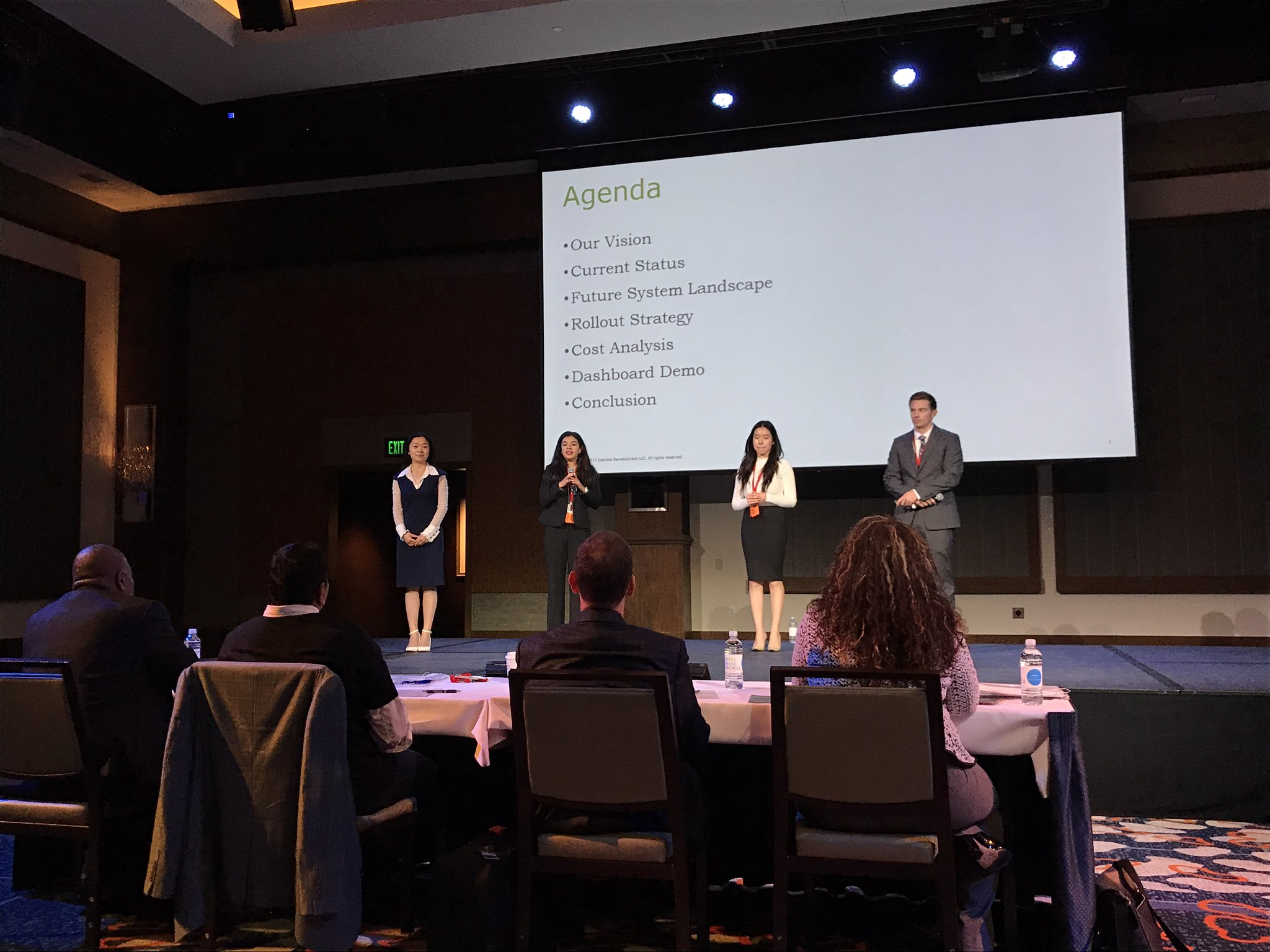 SDSU students give their presentation during the case competition.