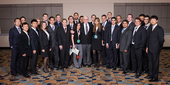 students at Berkshire Hathaway annual meeting